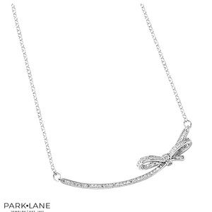 Park Lane Merry Silver/pave Necklace